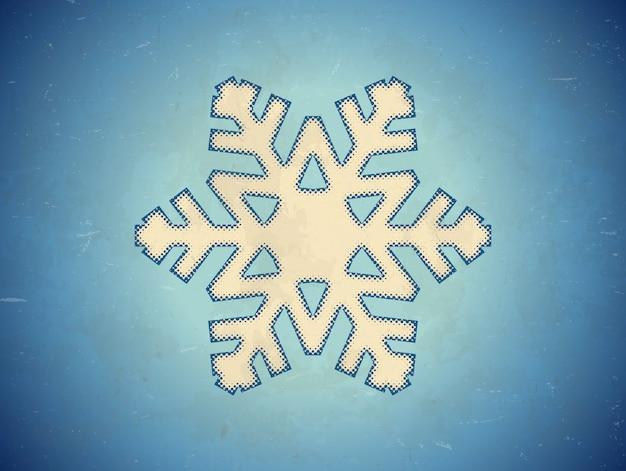 Im alter von karte mit schneeflocke