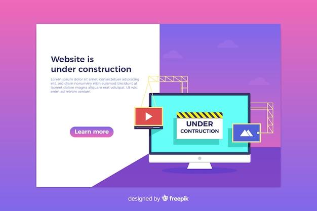 Im aufbau befindliche web-landing-page