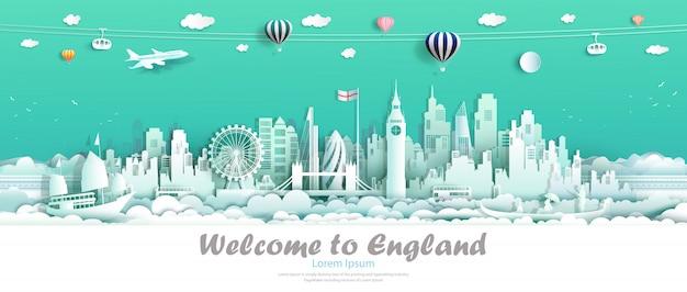 Im stadtzentrum gelegenes land wahrzeichen europas reise-londons england von insel.