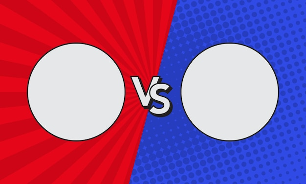 Im vergleich zu buchstaben kämpfen hintergründe im comic-stil. vektor-illustration.