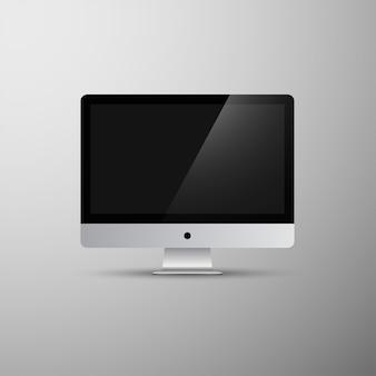 Imac-computermonoblockvektor mokcup
