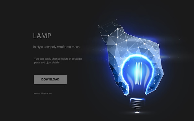 Imitation der lampe,