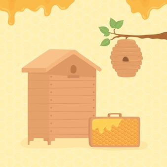 Imkerei bienenhaus
