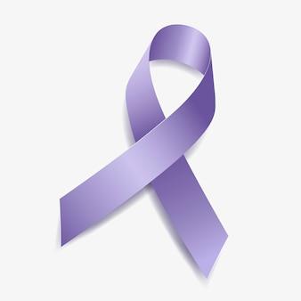 Immergrün blue ribbon bewusstsein ösophagus-, magen-, magenkrebs, pulmonale hypertonie. isoliert auf weißem hintergrund. vektor-illustration.