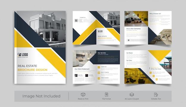 Immobilien 8-seitige broschüre