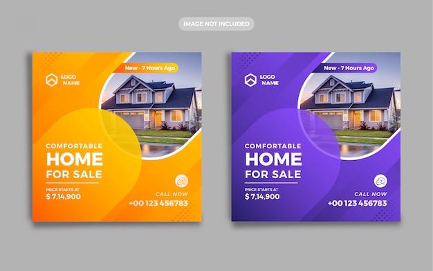 Immobilien banner social media post
