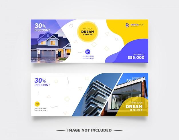 Immobilien banner vorlage für web