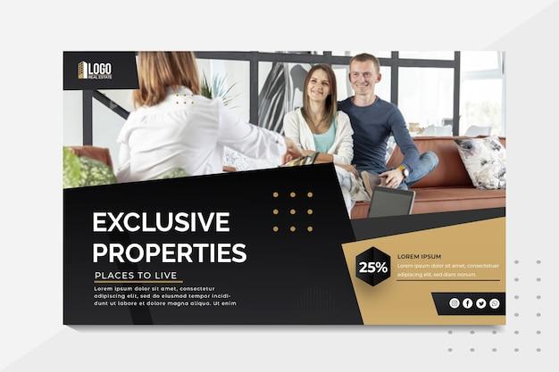 Immobilien-banner-vorlage