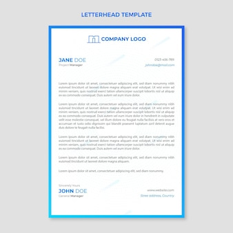 Immobilien-briefpapier mit farbverlauf