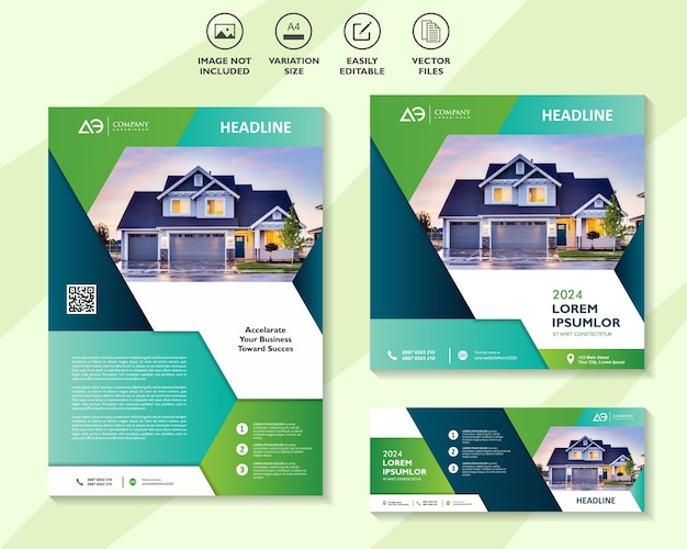 Immobilien corporate banner set