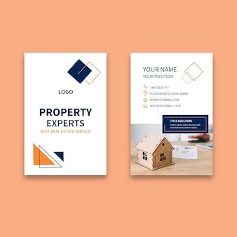 Immobilien doppelseitige visitenkarte