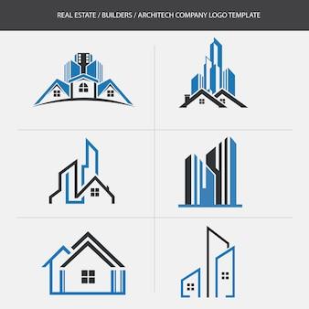 Immobilien-erbauer-firmenlogo-schablone