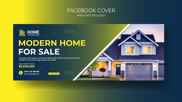 Immobilien facebook cover design-vorlage