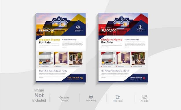 Immobilien flyer vorlage design