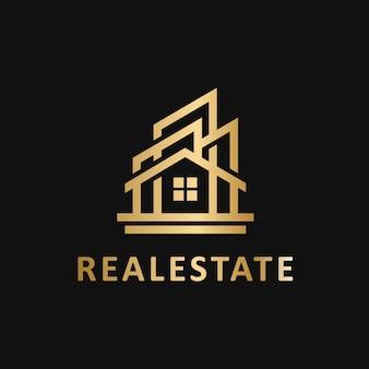 Immobilien geometrische logo vektor vorlage