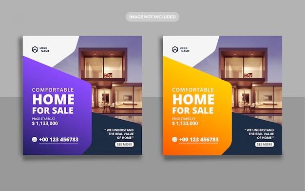 Immobilien haus verkauf banner