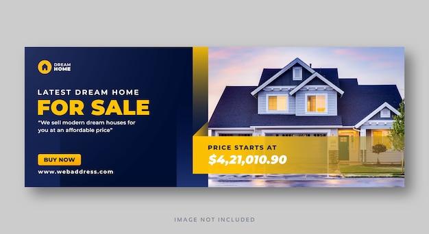 Immobilien haus verkauf social media cover web banner