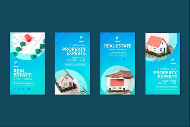 Immobilien instagram geschichten sammlung