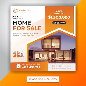 Immobilien instagram quadratische banner vorlage