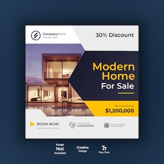 Immobilien instagram social media design