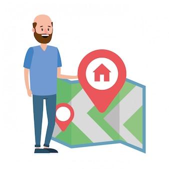 Immobilien karte cartoon