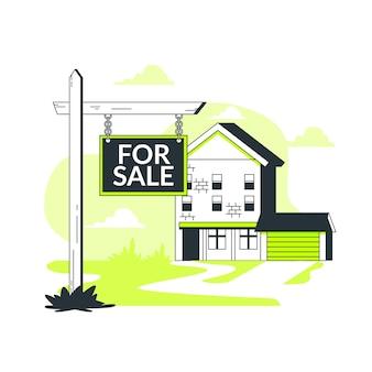 Immobilien konzept illustration