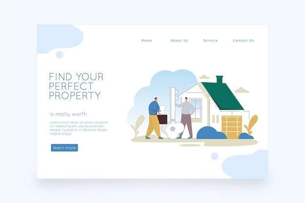 Immobilien-landingpage-design Kostenlosen Vektoren