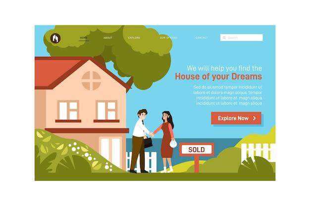 Immobilien-landingpage Kostenlosen Vektoren