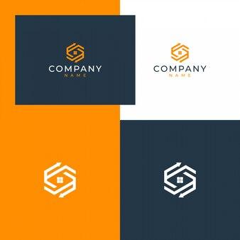 Immobilien-logo-design-konzept