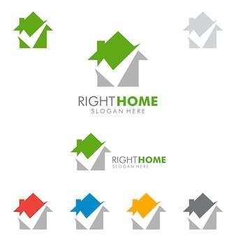 Immobilien logo, scheck home logo