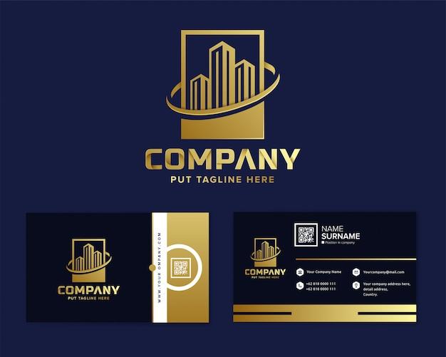 Immobilien-logo vorlage für unternehmen