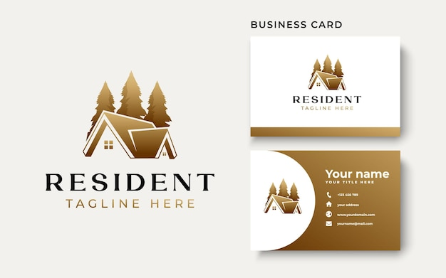 Immobilien-logo-vorlage in weißem hintergrund isoliert. vektorillustration
