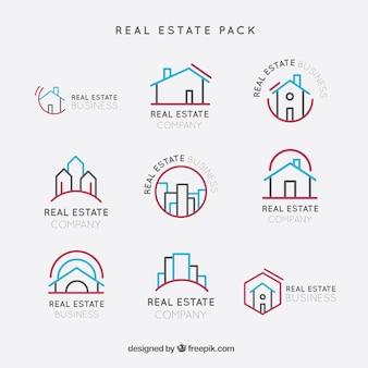 Immobilien logos pack