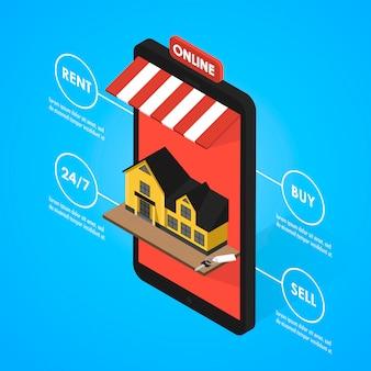 Immobilien online suchen isometrische wohnung