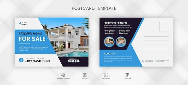 Immobilien-postkartenvorlage
