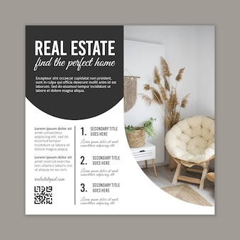 Immobilien quadratischer flyer