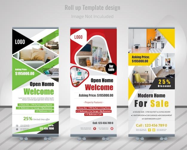 Immobilien roll up banner design