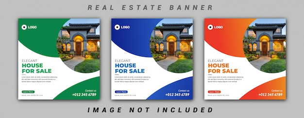 Immobilien social media banner vorlage