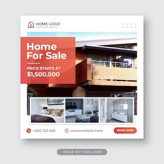 Immobilien social media instagram post vorlage