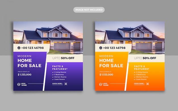 Immobilien social media post und web banner