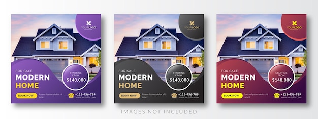 Immobilien social media werbung banner
