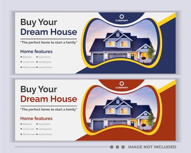 Immobilien soziale medien facebook cover web-banner-design.