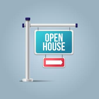 Immobilien tag der offenen tür zeichen