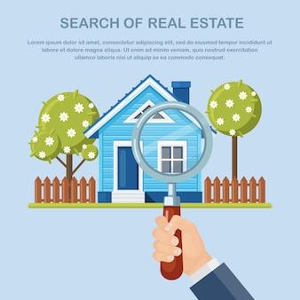 Immobilien und immobilien im vorortkonzept