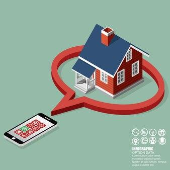 Immobilien und immobiliengeschäft isometrische gebäude diagramm