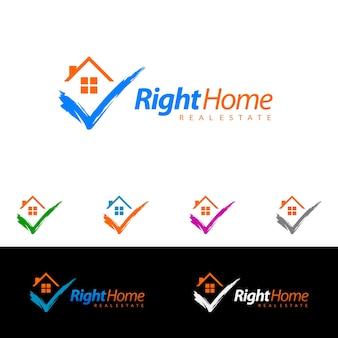 Immobilien-vektor-logo design