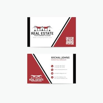 Immobilien-visitenkarte vorlage