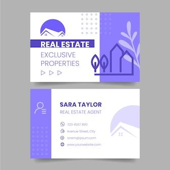 Immobilien-visitenkartenvorlage