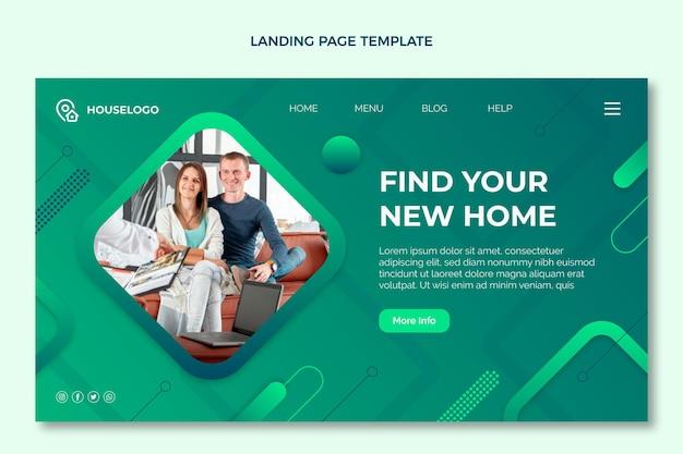 Immobilien-webvorlage mit farbverlauf