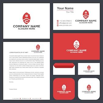 Immobilienblatt-logo und visitenkarte